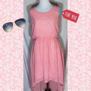 H&M junior pink floral high low dress size 14